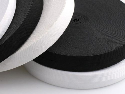 knitted elastic tape 15 mm white 501 poliester 100 mb 1