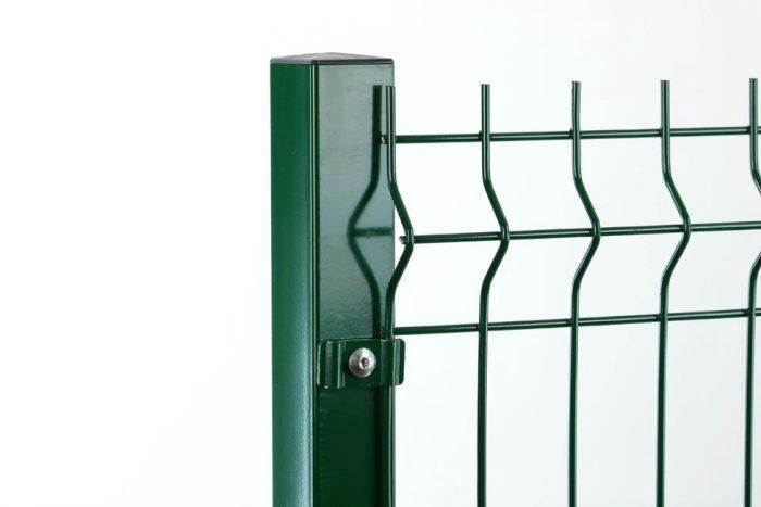 táblás kerítés elem zöld