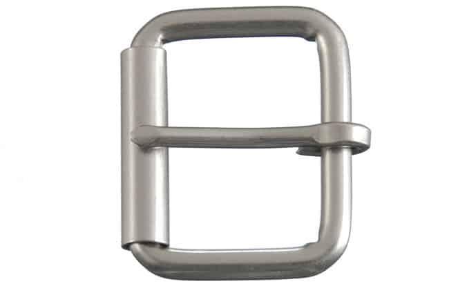 heel bar roller belt buckle gray 298