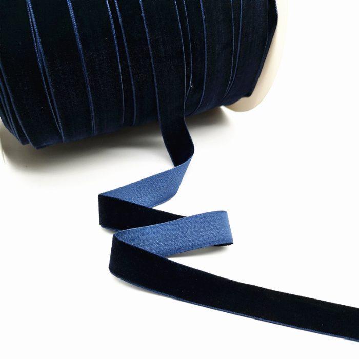 bársony szalag sötét kék